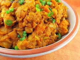 curried Lankan sweet potatoes